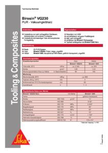 Downloads Biresin VG230 pdf 212x300